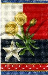 click here to view larger image of Yellow Rose Firecracker (hand painted canvases)