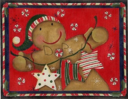 click here to view larger image of Gingerbread Candyman (hand painted canvases)