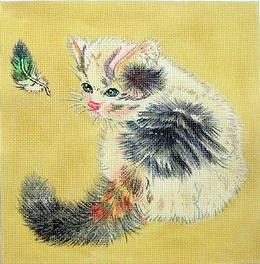 click here to view larger image of Kitty (hand painted canvases)