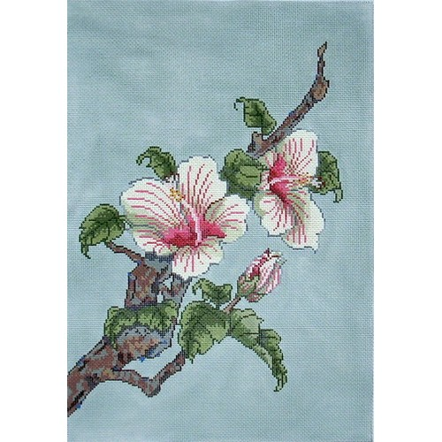 click here to view larger image of Hibiscus (hand painted canvases)
