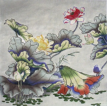 click here to view larger image of Lotus  (hand painted canvases)