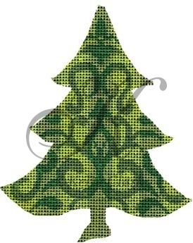 click here to view larger image of Green Damask Tree Stitch Guide (None Selected)