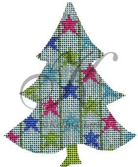 click here to view larger image of Twirly Wirly Stars Tree Stitch Guide (books)