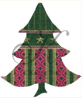 click here to view larger image of Fuchsia & Forest Tree Stitch Guide (books)