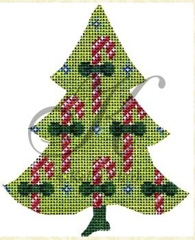 click here to view larger image of Chartreuse Candy Cane Tree Stitch Guide (books)