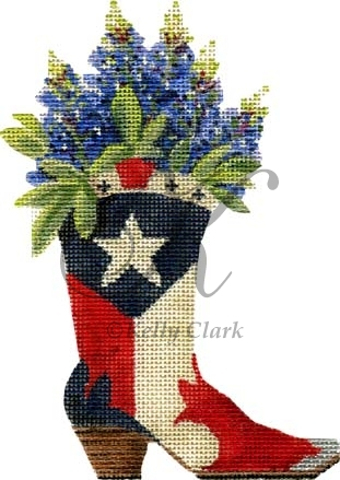 click here to view larger image of Texas Boot-n-Bonnets (hand painted canvases)