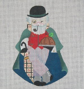 click here to view larger image of  English Santa (hand painted canvases)