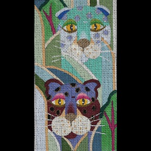 click here to view larger image of Jeweled Leopards (hand painted canvases)
