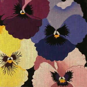 click here to view larger image of Pansy Galore (hand painted canvases)