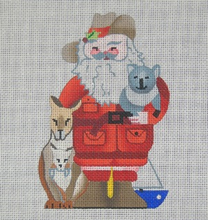 click here to view larger image of Australian Santa (hand painted canvases)