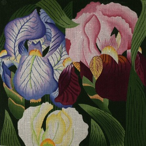 click here to view larger image of Giant Iris (hand painted canvases)
