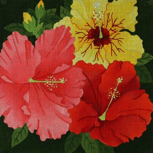 click here to view larger image of Giant Hibiscus (hand painted canvases)
