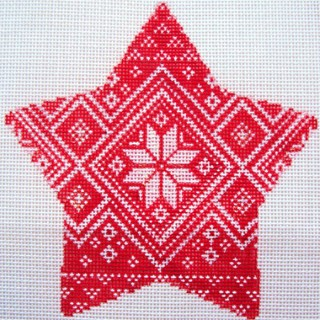 click here to view larger image of Nordic Star Pattern  Xmas Star (hand painted canvases)