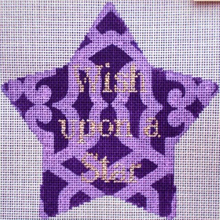 click here to view larger image of Wish Upon a Star Xmas Star (hand painted canvases)