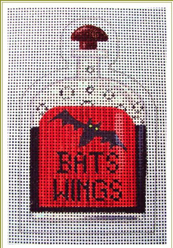 click here to view larger image of Bats Wings Halloween Bottle (hand painted canvases)