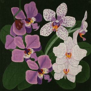 click here to view larger image of Giant Orchids (hand painted canvases)