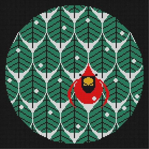 click here to view larger image of Coniferous Cardinal (hand painted canvases)