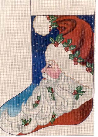 click here to view larger image of Santa Stocking (hand painted canvases)