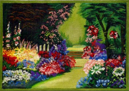 click here to view larger image of Summer Garden (hand painted canvases)