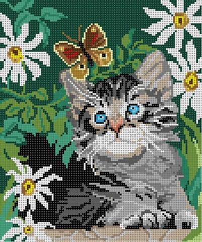 click here to view larger image of Kitten & Butterfly (hand painted canvases)