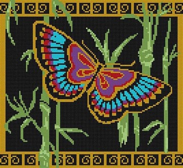 click here to view larger image of Oriental Butterfly (hand painted canvases)