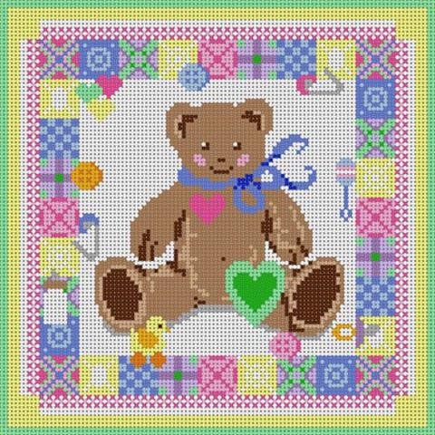 click here to view larger image of Baby Quilt Block (hand painted canvases)