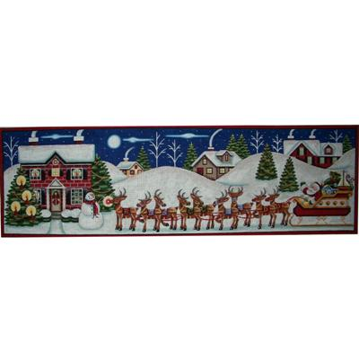 click here to view larger image of Christmas Eve Panel (hand painted canvases)