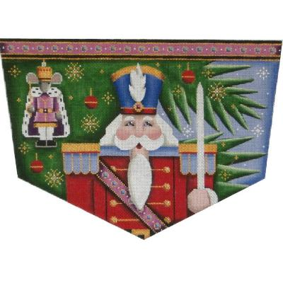 click here to view larger image of Nutcracker/Mouse King Stocking Cuff - 13ct (hand painted canvases)
