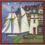 click here to view larger image of Set The Sails - 18ct (hand painted canvases)
