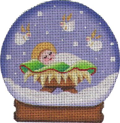 click here to view larger image of Baby Jesus Globe (hand painted canvases)