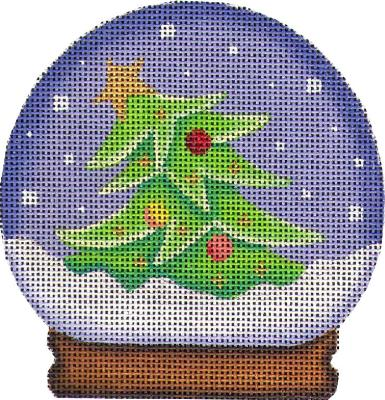 click here to view larger image of Tree Globe Ornament (hand painted canvases)