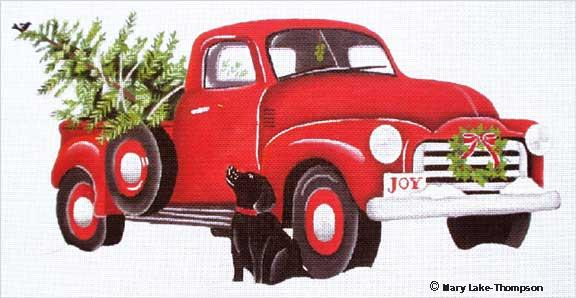 click here to view larger image of Christmas Truck (hand painted canvases)
