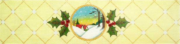 click here to view larger image of Yellow Scene Ornament (hand painted canvases)