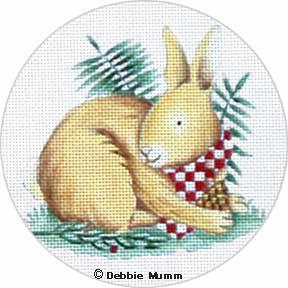 click here to view larger image of  Bunny Ornament (hand painted canvases)