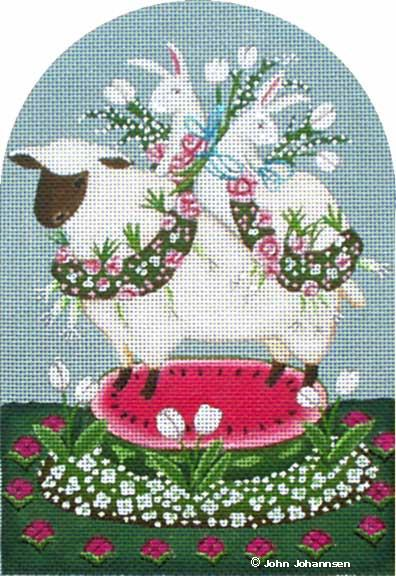 click here to view larger image of Bunny Lamb (hand painted canvases)