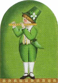 click here to view larger image of Saint Paddy Kid - Flute (hand painted canvases)