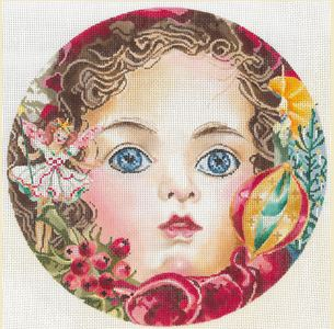 click here to view larger image of Doll's Head (hand painted canvases)