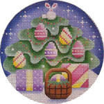 click here to view larger image of April Ornament (hand painted canvases)