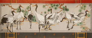 click here to view larger image of Japanese Snow Cranes (hand painted canvases)