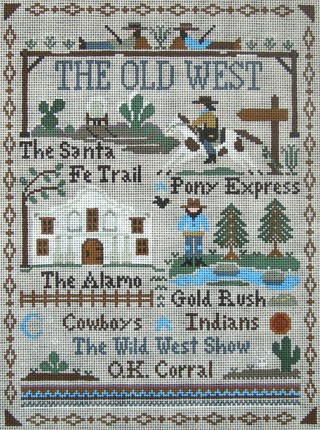 click here to view larger image of Old West, The (hand painted canvases)