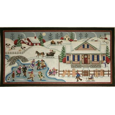 click here to view larger image of Winter Village - 13ct (hand painted canvases)