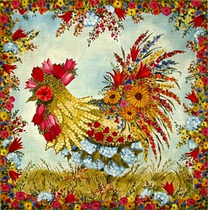 click here to view larger image of Spring Chicken (hand painted canvases)
