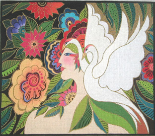 click here to view larger image of Swan Goddess (hand painted canvases)