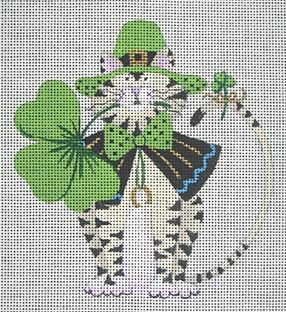 click here to view larger image of St Patricks Day Cat (hand painted canvases)