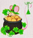 click here to view larger image of St Patricks Day Mouse (hand painted canvases)