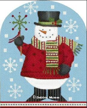 click here to view larger image of Snowman with Snowflake (hand painted canvases)