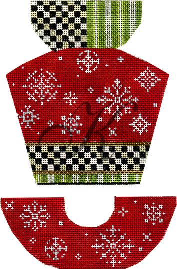click here to view larger image of Snowflakes & Red Velvet Hat Stitch Guide (hand painted canvases)
