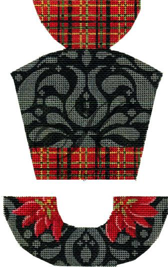 click here to view larger image of Plaid Tafetta & Black Velvet Hat Stitch Guide (hand painted canvases)