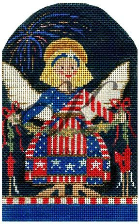 click here to view larger image of Angel of 4th July (hand painted canvases)