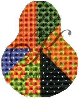 click here to view larger image of Hallow Crazy Quilt Pear (hand painted canvases)